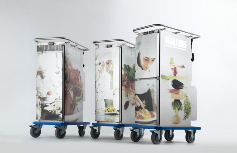 Food transport trolleys with logo and pictures
