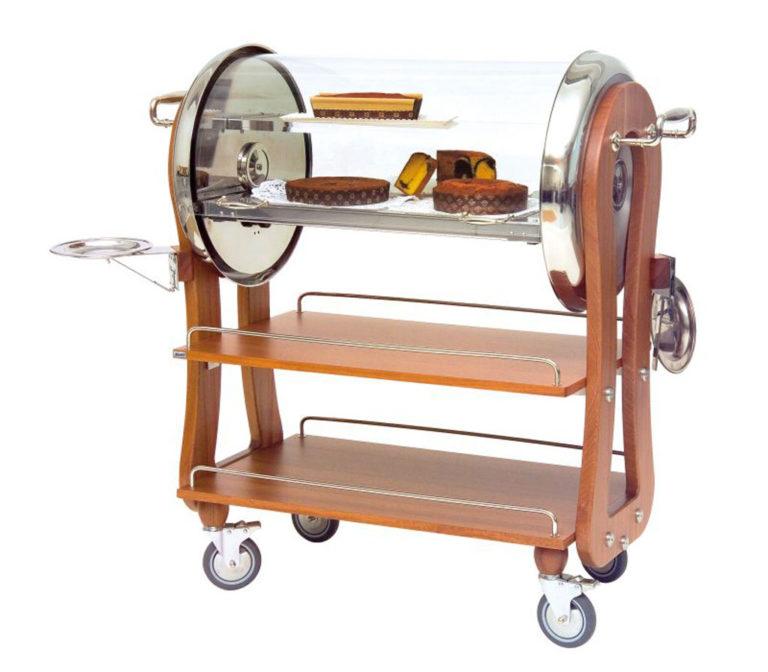 Serveringsvagn för dessert med roll top