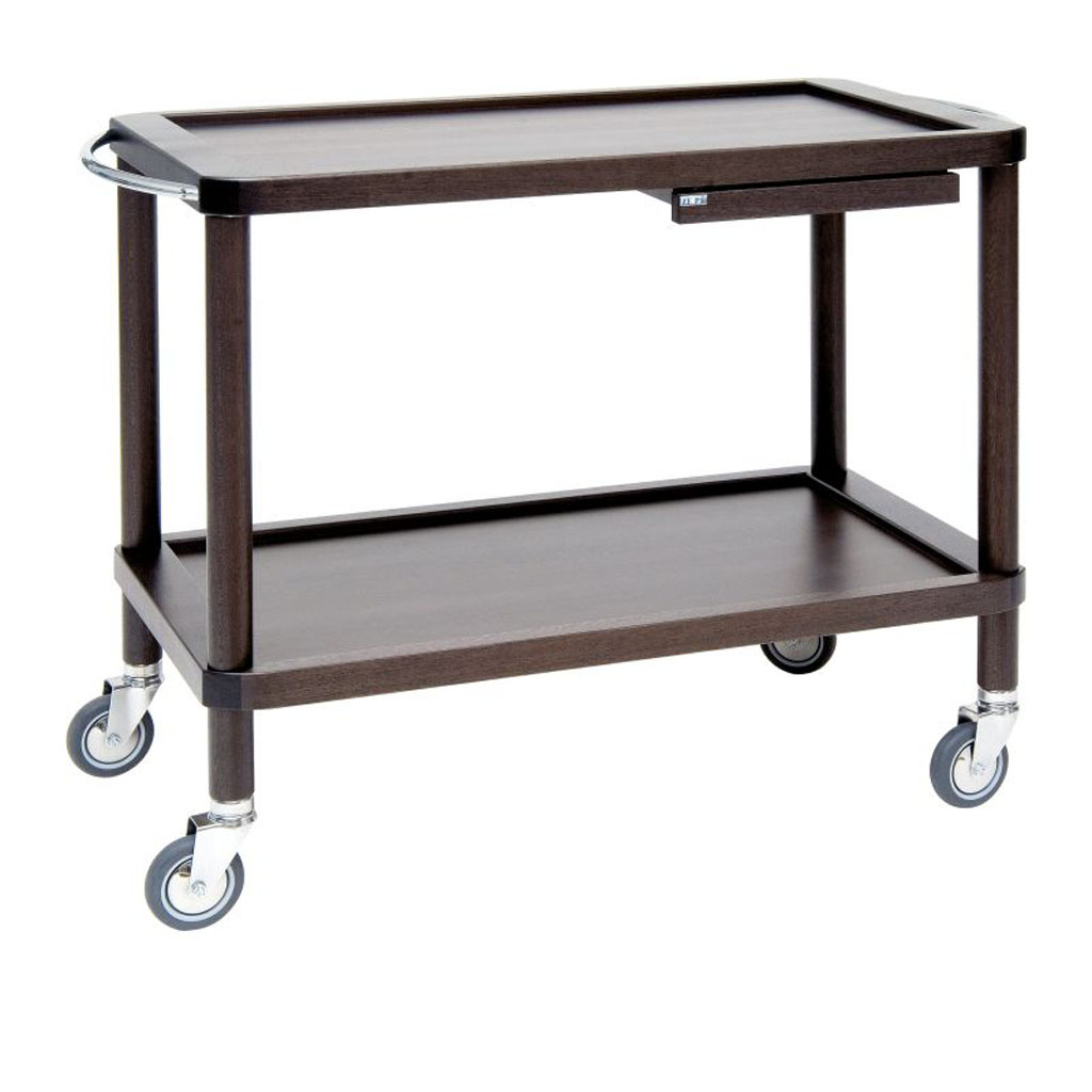 Serving trolley Roma base with 2 shelves