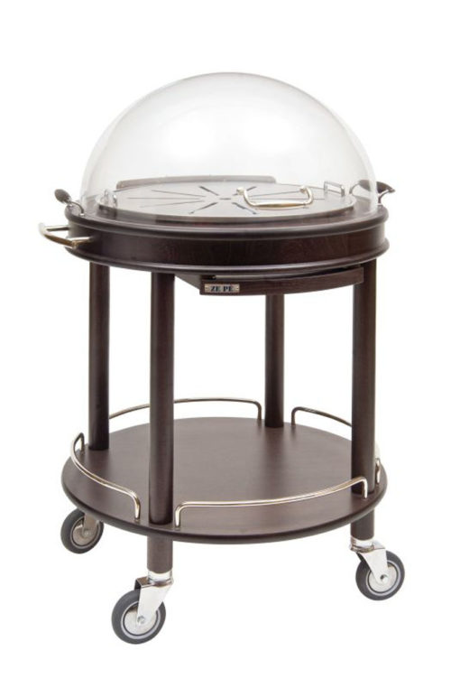 Base trolley with round top shelf - Roma