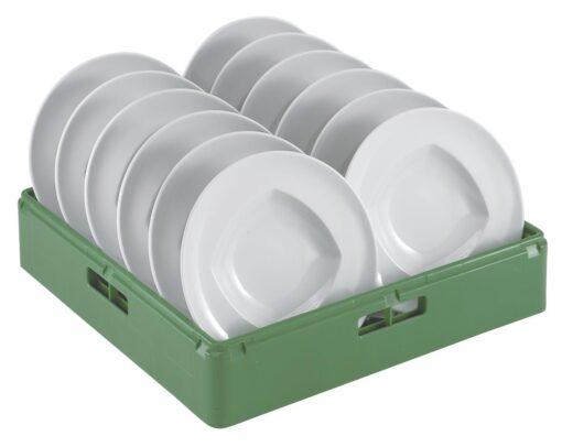 Diskkorg grön för djupa tallrikar