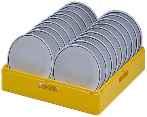 Diskkorg gul för flata tallrikar