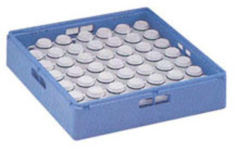 Diskkorg blå för glas och koppar