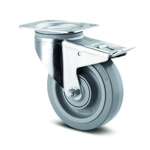 Hjul 160 millimeter svängbart med broms
